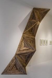 Reclaimed wood crystalline installation by Serra Victoria Bothwell Fels. Image from Visual News.