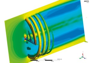 Blade vortices off a horizontal axis wind turbine. Image from Wind Power Engineering. See link above.
