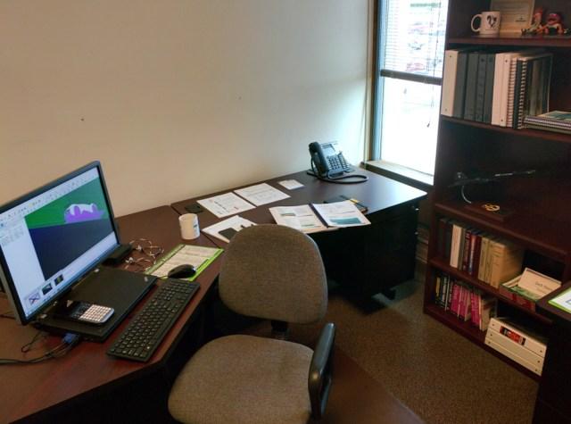 Zach's current workspace.