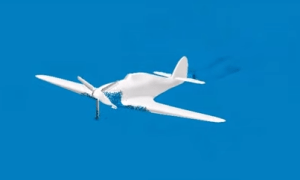 Screen capture from a CD-adapco simulation of a Hawker Hurricane water landing.  [Feeds my love of WWII-era aircraft.] Click image for video.