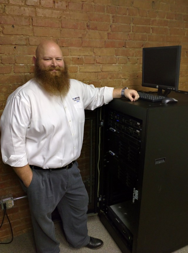 Chris Jobe, Senior System Administrator on the Information Technology Team.