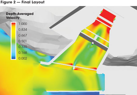 FLOW-3D CFD solution for a proposed power station on the Lillooet River. Image from HydroWorld.com. Click image for article.