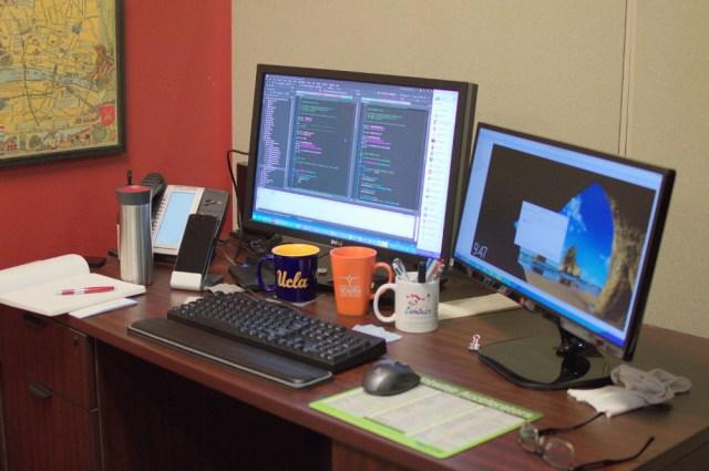 Jim's current workspace.