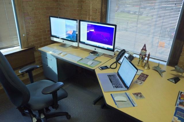 Steve's current workspace.