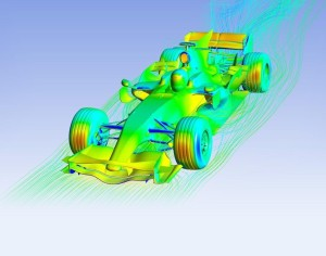 ANSYS CFD simulation of a Red Bull Formula 1 car. Image from InsideHPC.com. See link above.