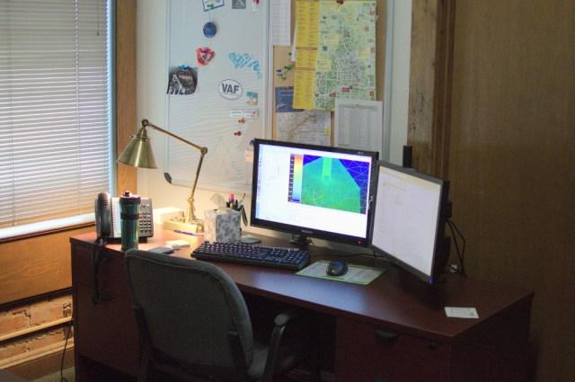 Patrick's current workspace.