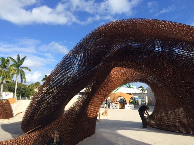 Flotsam & Jetsam by SHoP Architects is the world's largest 3-D printed structure. Image provided by Branch Technology. See links above.