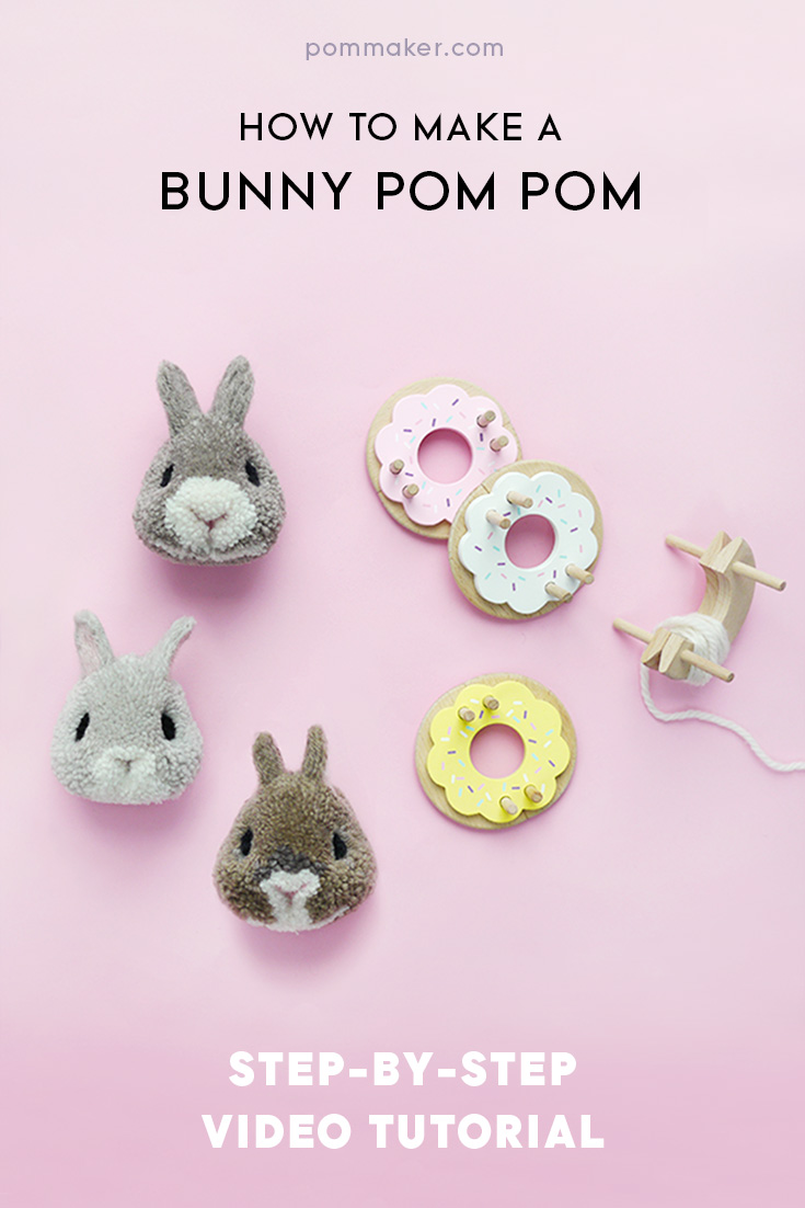 crafts for kids with paper, easy DIY craft ideas for kids, easy paper crafts for kids, DIY craft ideas DIY Kids Crafts You Can Make In Under An Hour Pom Maker tutorial - How to make a bunny pompom