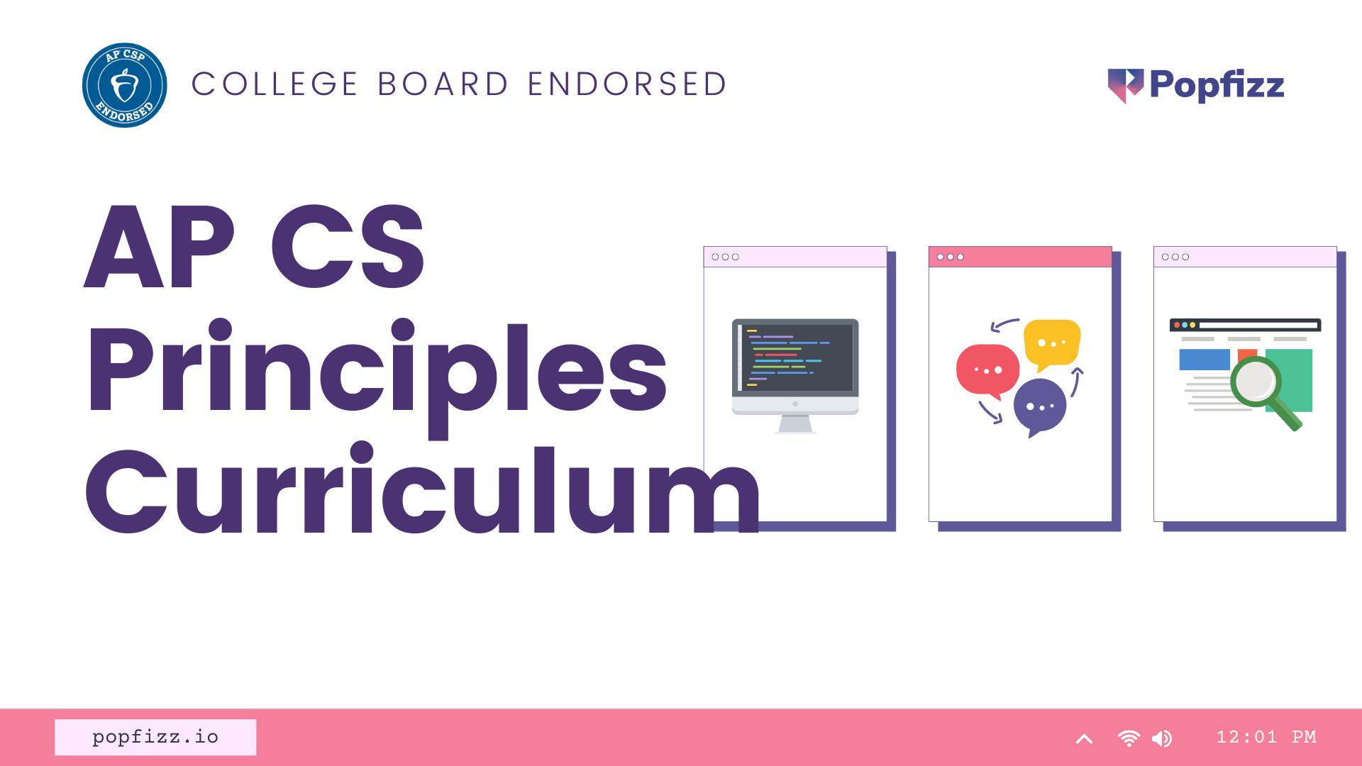 Introducing Popfizz AP CS Principles Curriculum