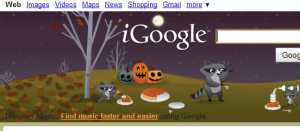 Normal iGoogle theme