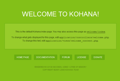Kohana 2.3.4 - Welcome to Kohana