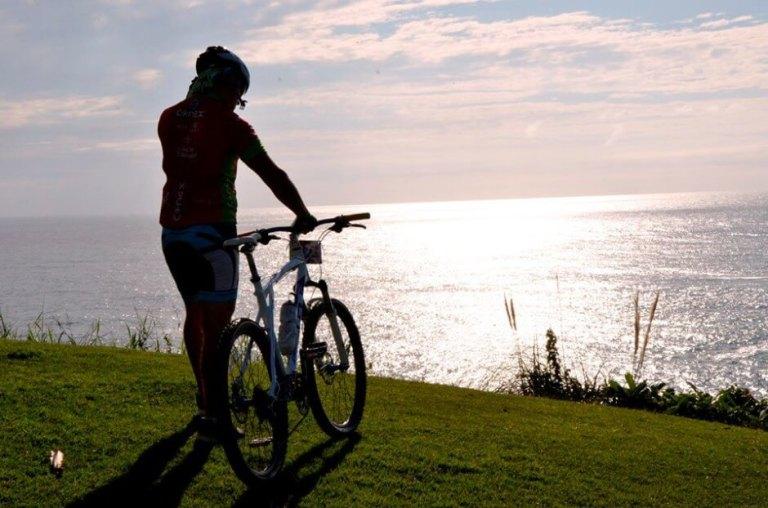 costa verde mar para pedalar