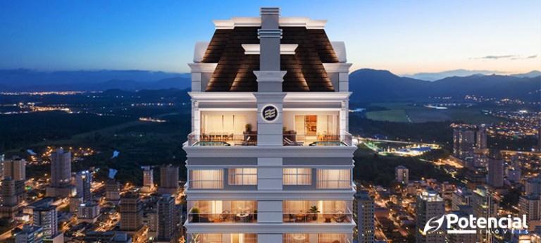 Visão aérea de edifício de luxo em Santa Catarina