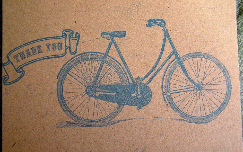 thank you bike card