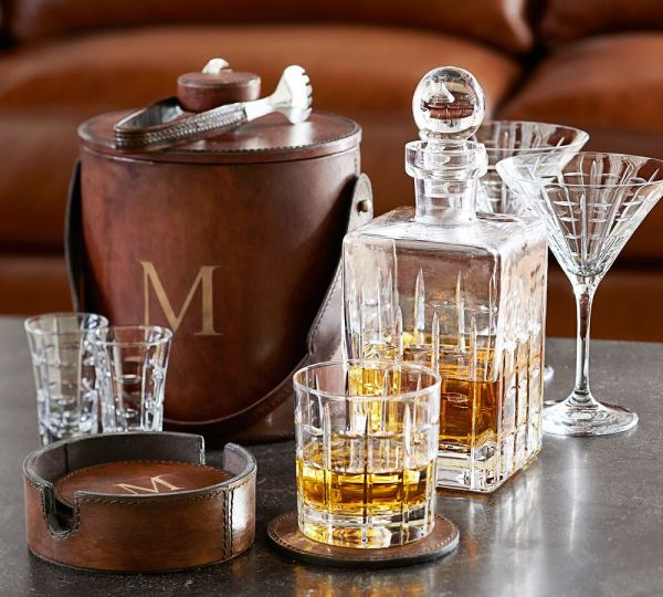 decanter and ice bucket