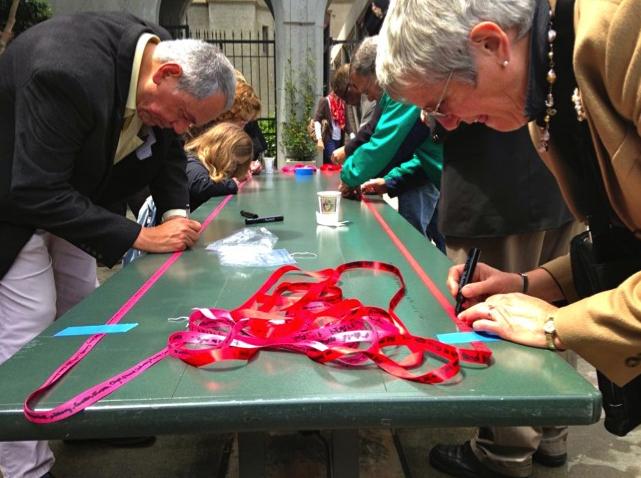Signing ribbons