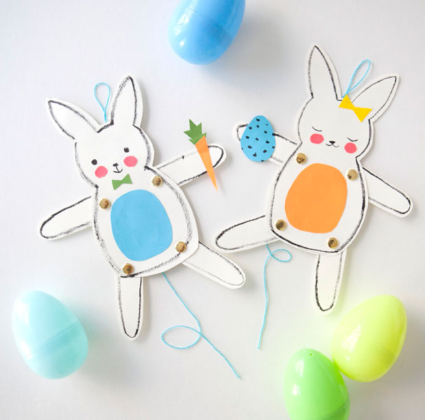 Jumping Jack Easter Bunny Craft