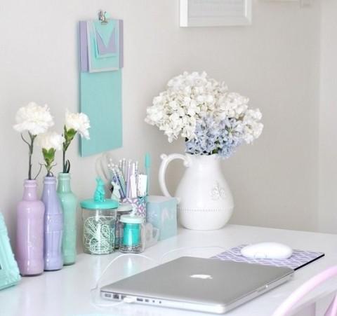 Pastel Desk Accessories