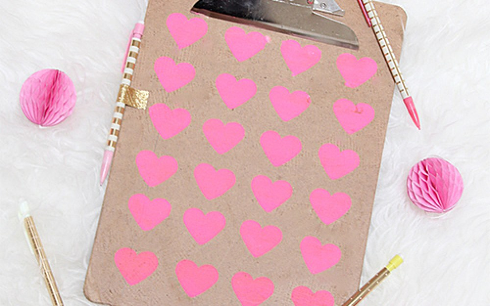 Diy Heart Clipboard Pottery Barn