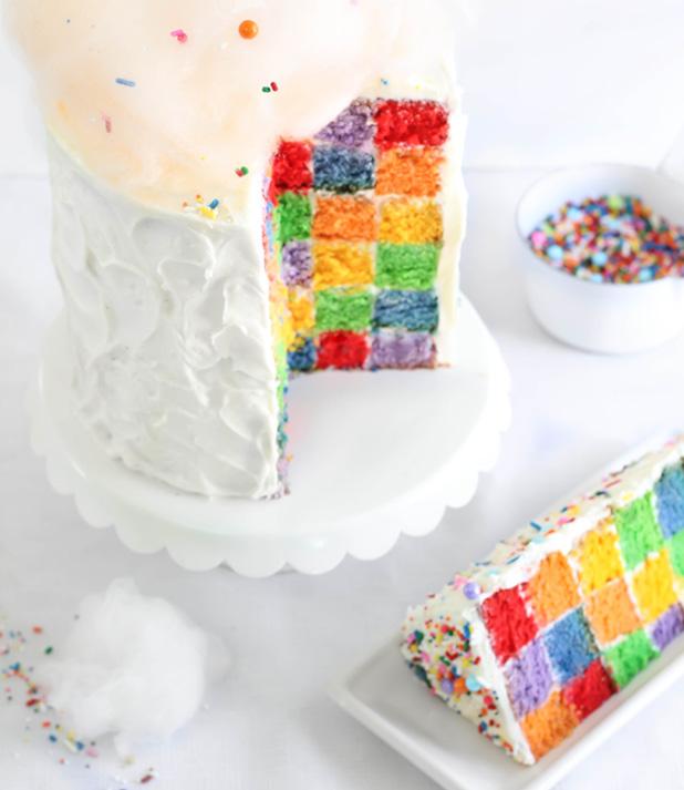 Rainbow-CheckerboardCake