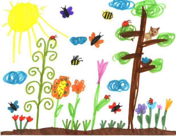 A Vegetable Garden Kids Coloring Sheet