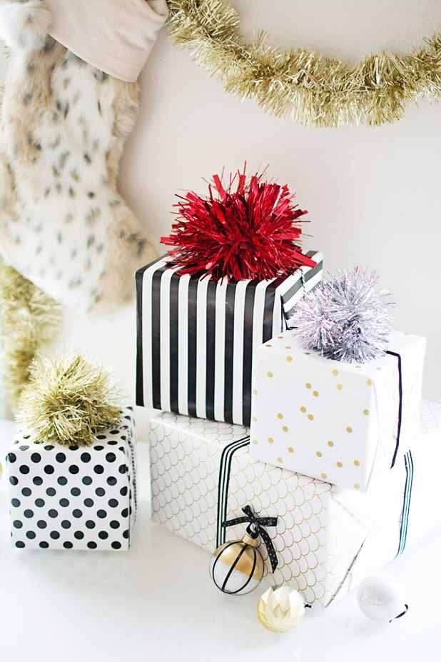 DIY Sparkly Gift Toppers | 3 Perfect Last Minute Holiday Ideas