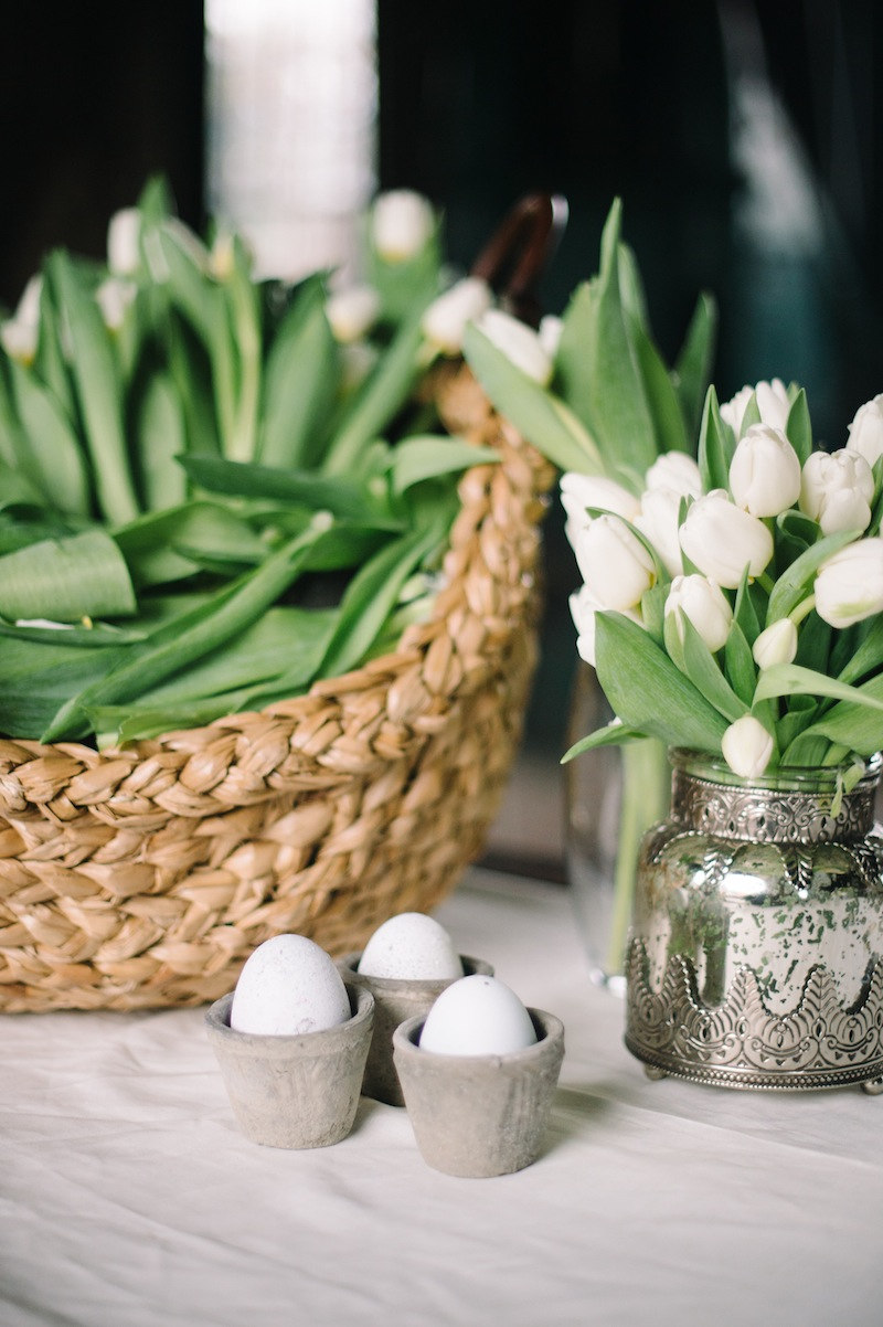 Traditional Easter White Tulips