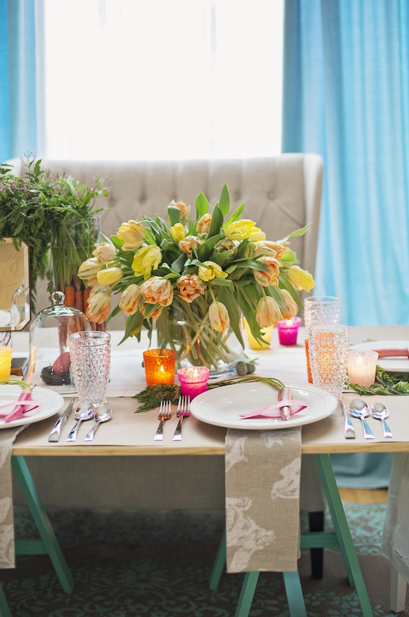 A Diy Colorful Easter Dinner Party From Pottery Barn