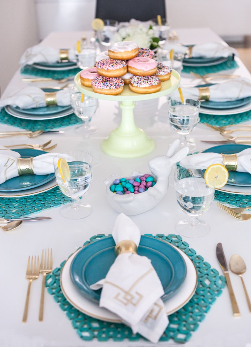 Easter Lunch Table Setting