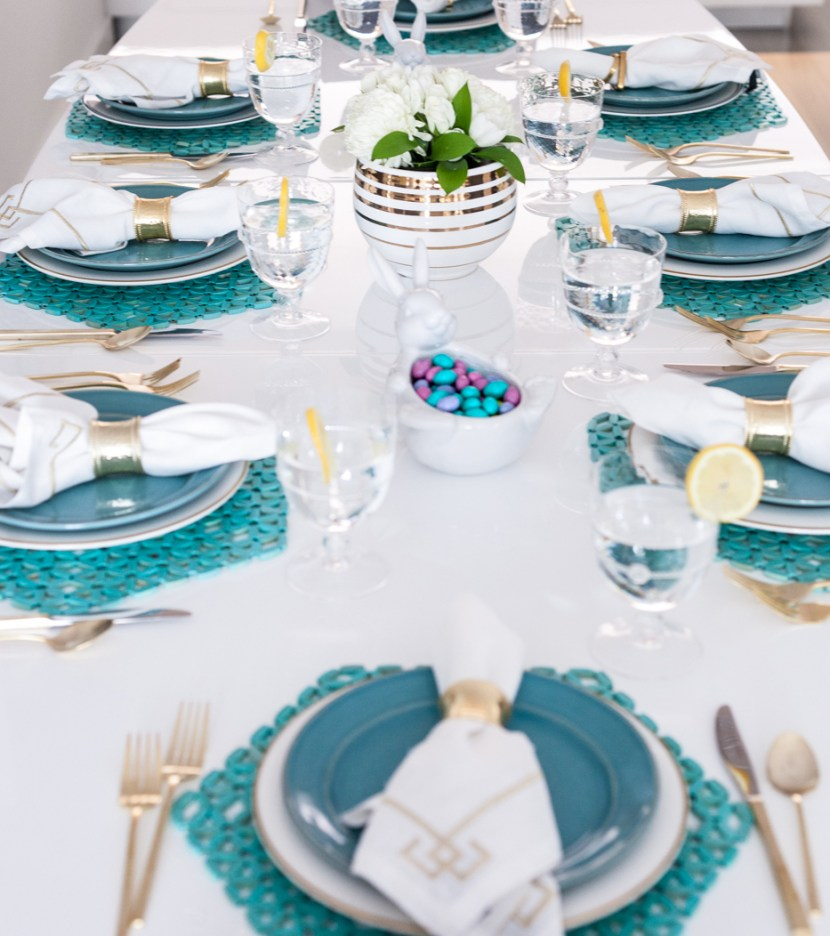 Turquoise Easter Lunch Table