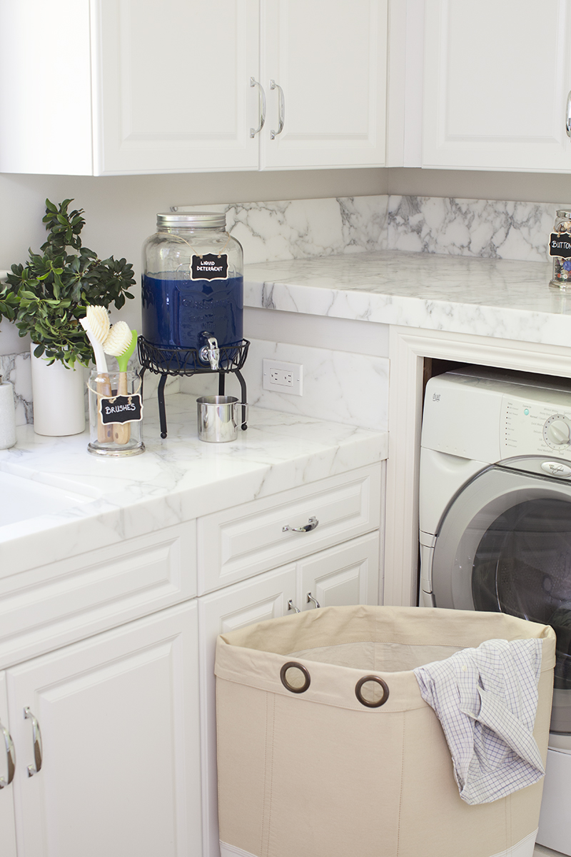 Pottery Barn Laundry Room Organization Makeover