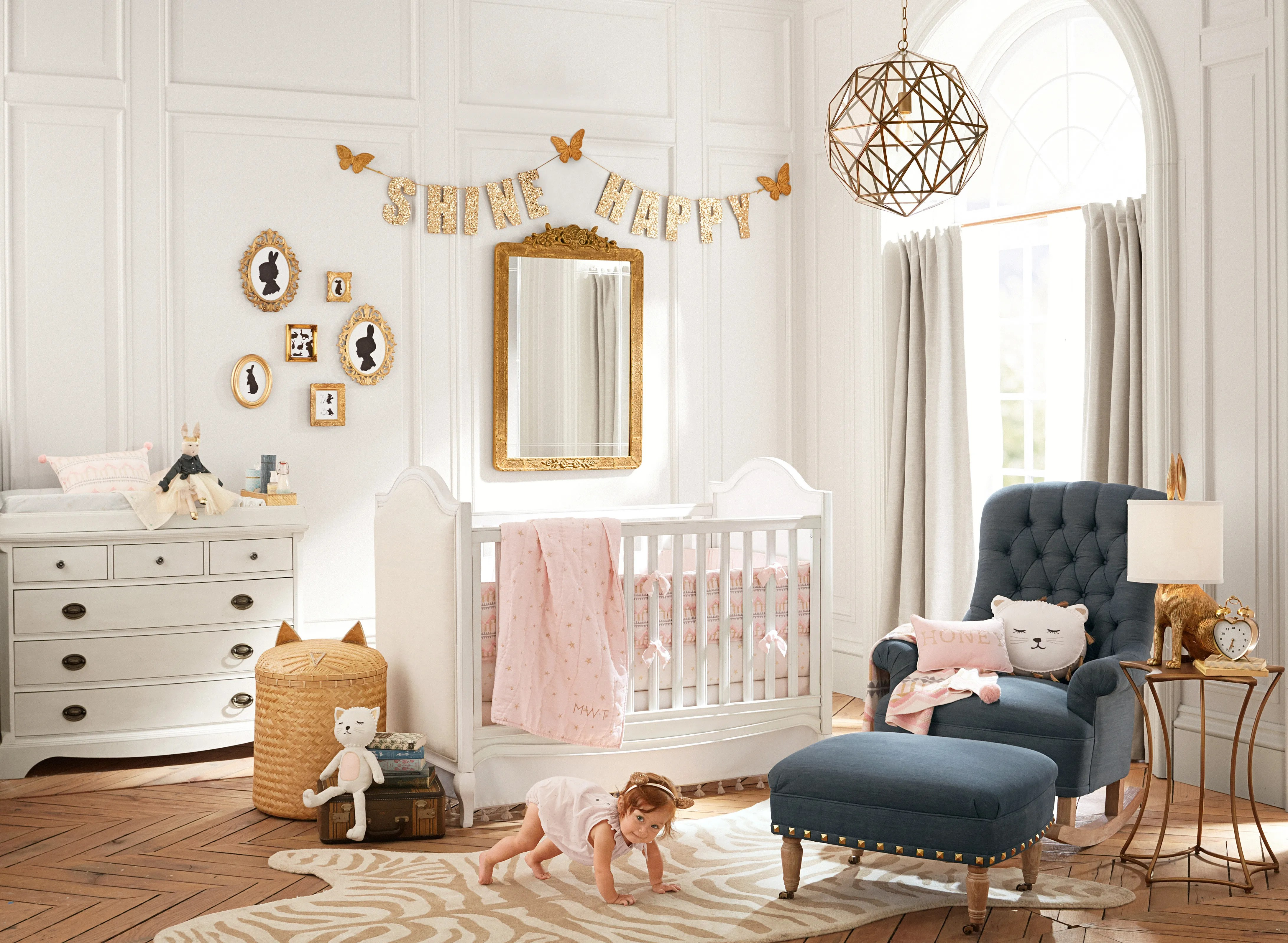 60 - Emily and Merritt Pink Stars Nursery