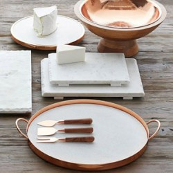 Copper & Marble Serve Tray