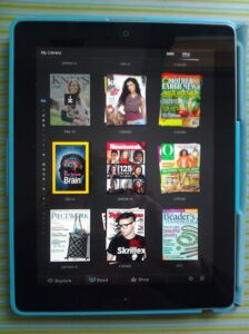 iPad with magazines