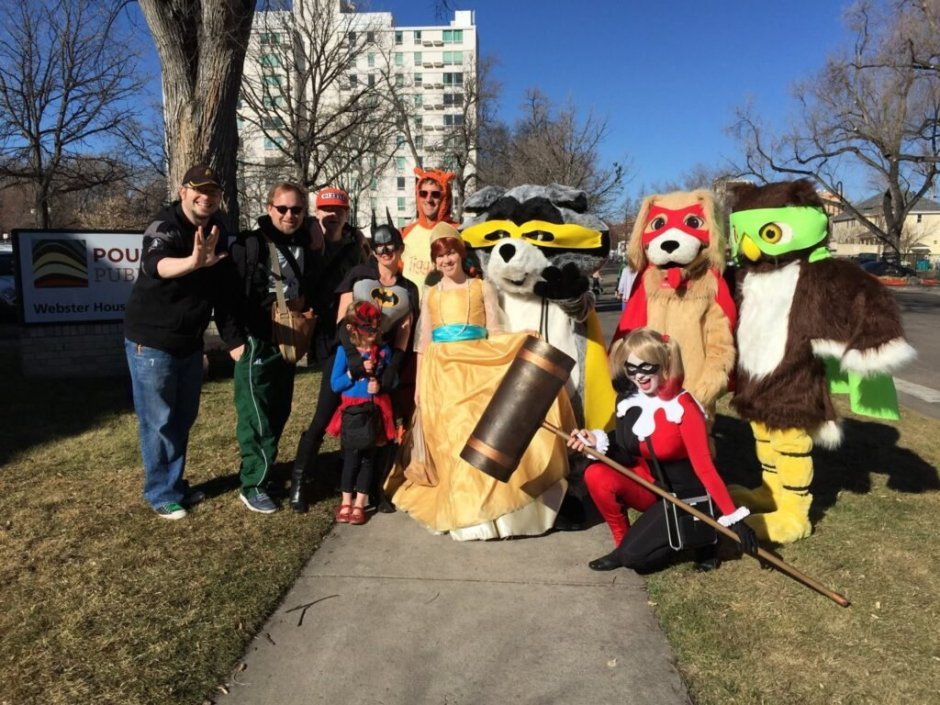 poudre library district and fort collins comic con founders in cosplays