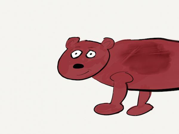 brown cartoon bear
