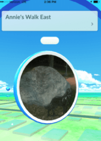 A PokeStop outside Old Town Library