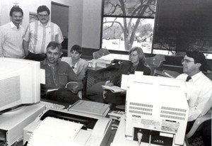 The Main Library public computers, 1993