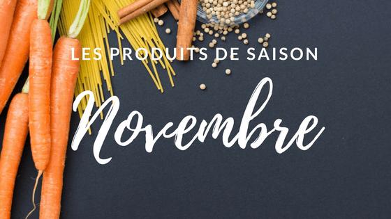 Les produits de saison – Novembre
