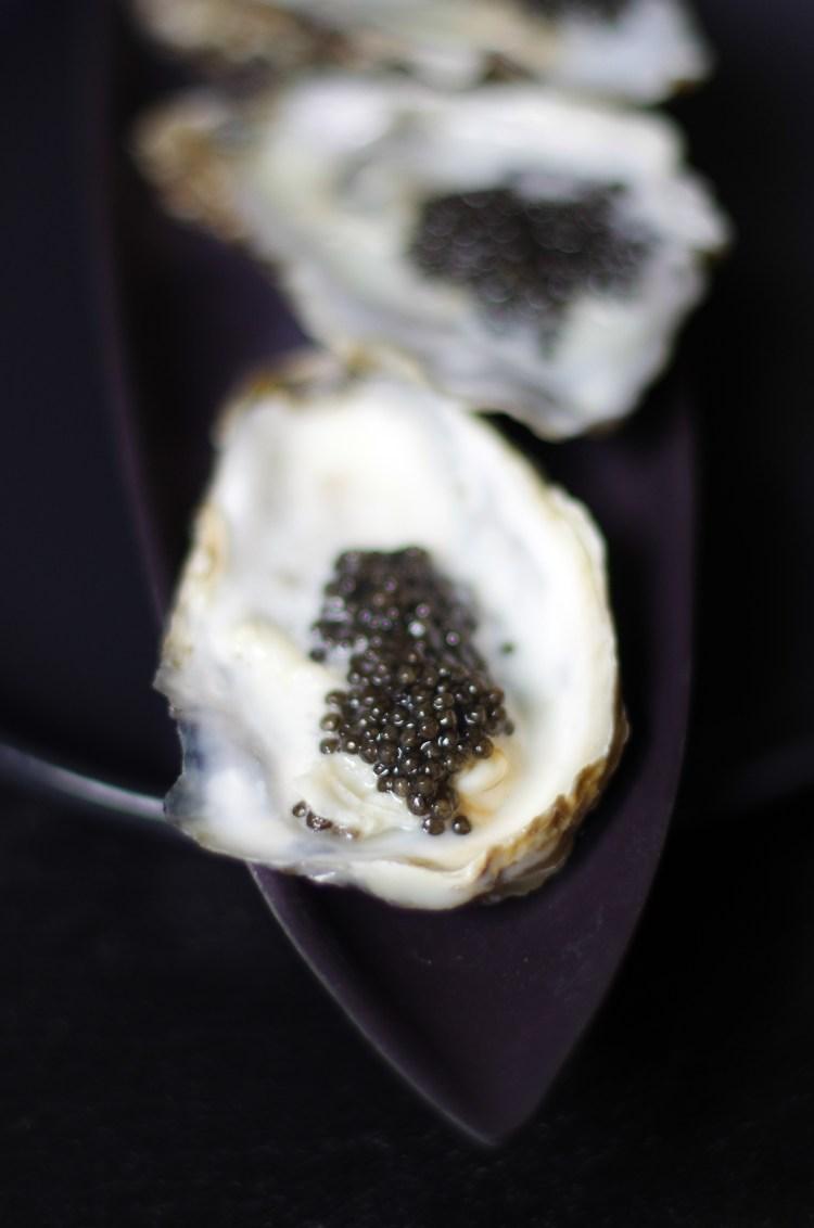 huitres écume de caviar - courdavault neuvic