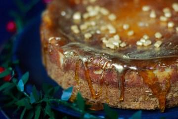 cheesecake caramel - ferme de viltain