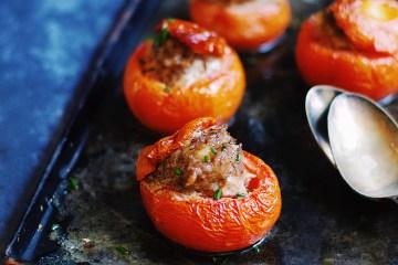 tomates farcies au lapin épicé