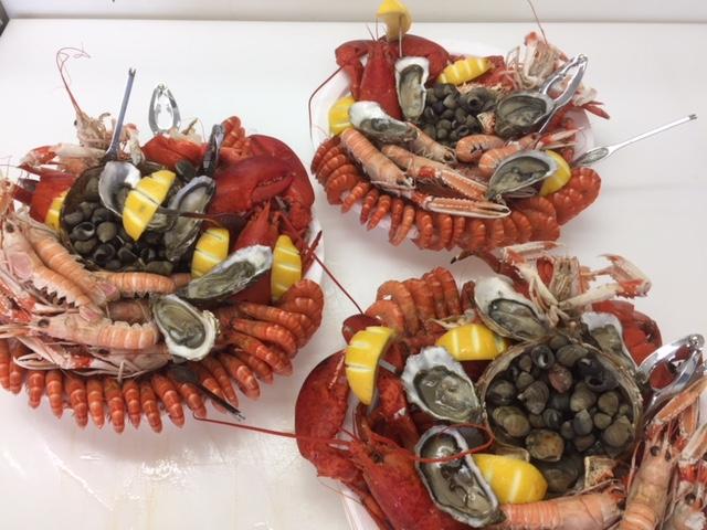 Panier de fruit de mer