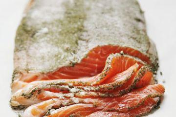 gravlax de saumon ou de truite
