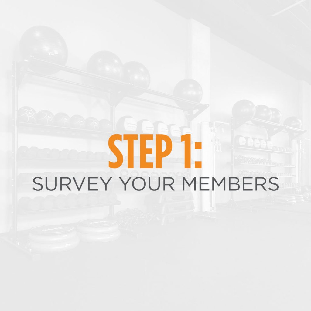 Step 1: Survey your members