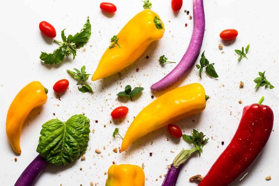 peperoni ripieni vegetariani tra cornelio e perlina