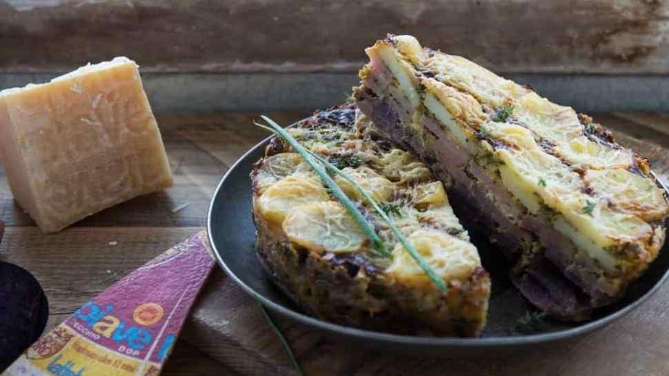 torta di patate con piave dop