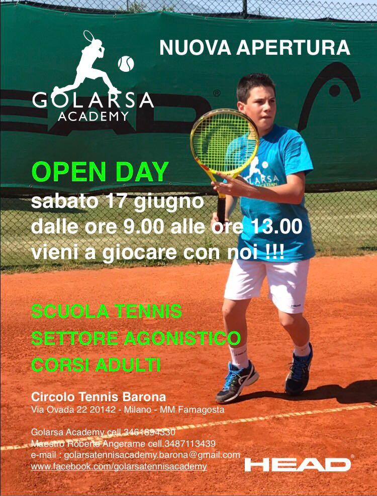 golarsa tennis academy locandina