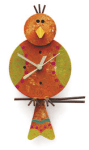Pendeluhr Kanarienvogel von Reciclage