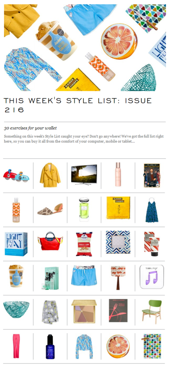 The Style List, 30 exercises for your wallet - Issue 2016/ 9 April 2014
